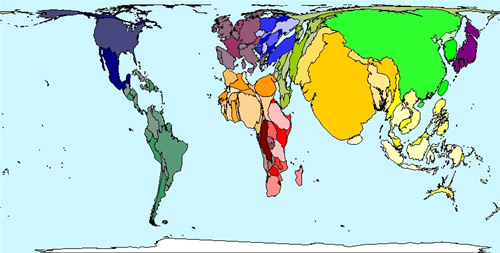 World Map Population Distribution